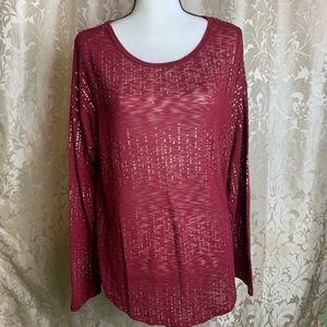 NO BOUNDARIES long sleeve blouse size XL 15/17